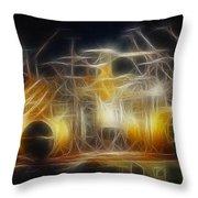 Van Halen-ou812-alex-f24a-fractal Throw Pillow
