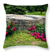 Van Hoosen Jones Stoney Creek Entrance Stone Throw Pillow