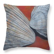 Van Hyning's Cockle Shells Throw Pillow