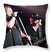 Van Zant - Johnny With Donnie Throw Pillow