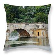 Vanbrughs Grand Bridge Throw Pillow by Tony Murtagh