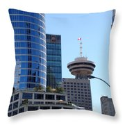 Vancouver Architecture 2 Throw Pillow