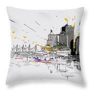 Vancouver Art 004 Throw Pillow