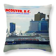 Vancouver Bc IIi Throw Pillow