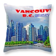 Vancouver Bc Iv Throw Pillow