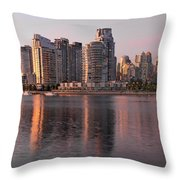 Vancouver Bc Waterfront Condominiums Throw Pillow