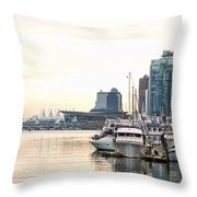 Vancouver Boats  Throw Pillow