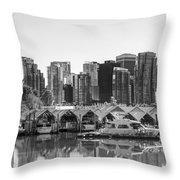 Vancouver Boatsheds Throw Pillow