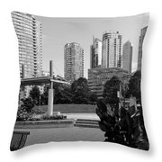 Vancouver Canada Skyscrapers And Park Throw Pillow