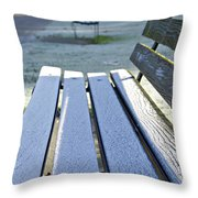 Vancouver Frosty Morning Throw Pillow by Marilyn Wilson