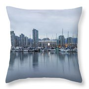 Vancouver Panorama Throw Pillow