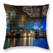 Vancouver Plaza Of Nations - By Sabine Edrissi Throw Pillow