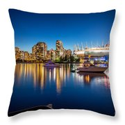 Vancouver Skyline - By Sabine Edrissi Throw Pillow