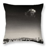 Vancouver Skyline Acloud Over English Bay Throw Pillow