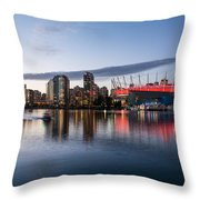 Vancouver Skyline With Bc Place Throw Pillow
