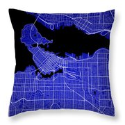 Vancouver Street Map - Vancouver Canada Road Map Art On Colored  Throw Pillow