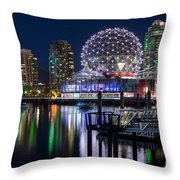 Vancouver Telus World Of Science - By Sabine Edrissi Throw Pillow