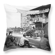 Vanderbilt Cup, C1910 Throw Pillow