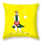 Vanguard Girl 2 Throw Pillow