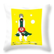 Vanguard Girl Throw Pillow