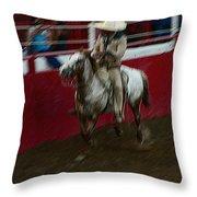 Vaquero Number 2 Rodeo Chandler Arizona 2002 Throw Pillow