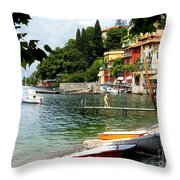 Varenna.lake Como Throw Pillow