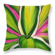 Variegated Delight Painting Throw Pillow by Lisa Bentley