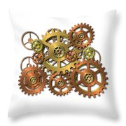 Various Gears Throw Pillow
