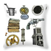 Various Object - Signs - Icons Throw Pillow