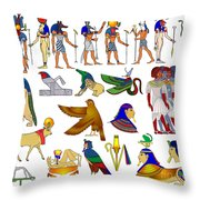 Various Themes Of Ancient Egypt Throw Pillow