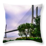 Vasco Da Gama Bridge I Throw Pillow