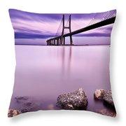Vasco Da Gama Bridge Throw Pillow