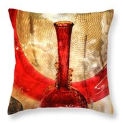 Vase And Tree Throw Pillow