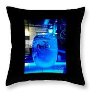 Vase Impression Bluish Throw Pillow