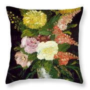 Vase Of Flowers, 1886 Throw Pillow