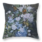 Vase Of Flowers - Reproduction Throw Pillow