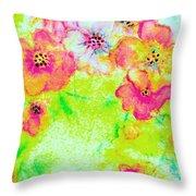 Vase Of Spring Flowers Throw Pillow