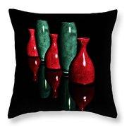 Vases In Dark Throw Pillow