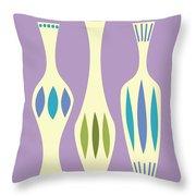 Vases On Purple Throw Pillow