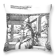 Vasily IIi Ivanovich (1479-1533) Throw Pillow