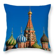 Vasily The Blessed Cathedral On Moscow Red Square - Featured 2 Throw Pillow