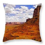 Vast Desert - Monument Valley - Arizona Throw Pillow