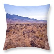 Vast Desolate And Silent - Lyon Nevada Throw Pillow