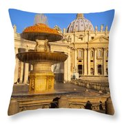 Vatican Morning Throw Pillow