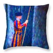 Vatican Swiss Guard Throw Pillow