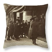 Vaudeville Audience, 1912 Throw Pillow