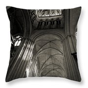 Vaults Of Rouen Cathedral Throw Pillow