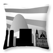 vector Rio skyline with ball Throw Pillow