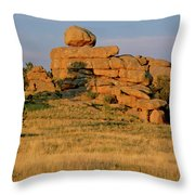 Vedauwoo Rocks Sunset Wyoming Throw Pillow