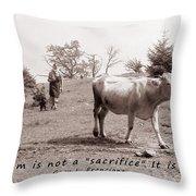 Veganism Is A Joy Throw Pillow